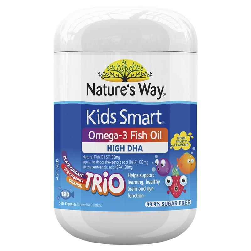 Kids Smart Fish Oil Trio Lọ 60 Viên - Bổ Sung Omega 3