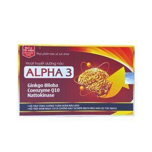 Alpha 3 Hộp 60 Viên - Hỗ Trợ Hoạt Huyết, Tuần Hoàn Máu Não