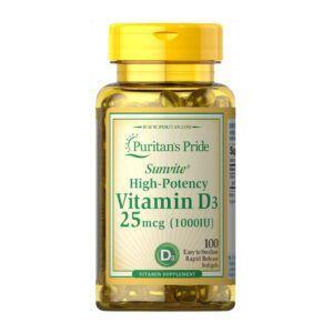 Vitamin D3 1000 IU Lọ 100 Viên - Viên Uống Bổ Sung Vitamin D3