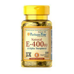 Vitamin E 400 IU Lọ 100 Viên - Viên Uống Bổ Sung Vitamin E