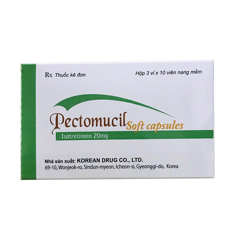 Pectomucil Hộp 30 Viên - Điều Trị Mụn Trứng Cá