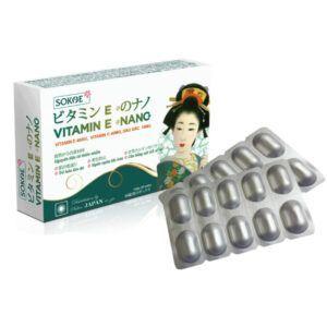Vitamin E Nano Hộp 30 Viên - Hạn Chế Lão Hóa Da, Sáng Mịn Da