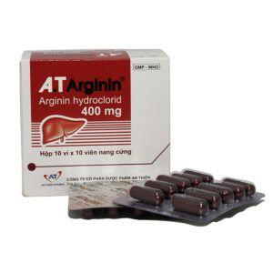 A.T Arginin 400mg Hộp 100 Viên
