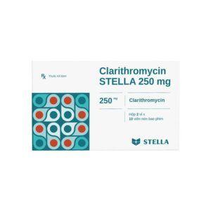 Clarithromycin Stella 250 mg hộp 20 viên