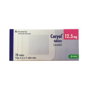 Coryol 12.5 Hộp 28 Viên - Điều Trị Tăng Huyết Áp Hiệu Quả