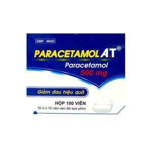 Paracetamol A.T hộp 100 viên