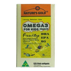 Nature's Gold Omega 3 Hộp 125 Viên - Tăng Cường Thị Lực