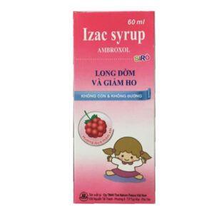 Izac Syrup Chai 60ml - Tiêu Chất Nhầy Đường Hô Hấp