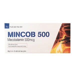Mincob 500 Hộp 30 Viên - Điều Trị Bệnh Lý Thần Kinh Ngoại Biên